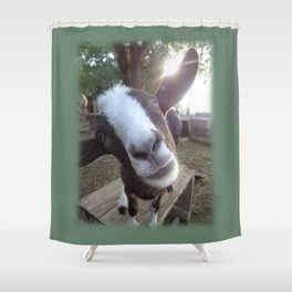 Goat Barnyard Farm Animal Shower Curtain