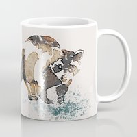 racoon Mugs featuring Racoon Illustration by Caroline Campeau