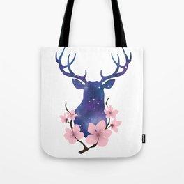 Blossom Deer Tote Bag