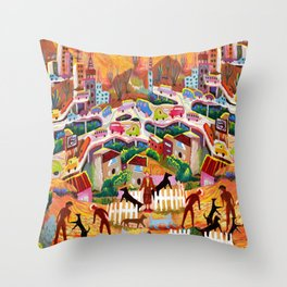 Ambos Nogales (Square) Throw Pillow