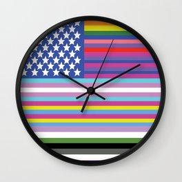 LGBTAQ+ American Flag Wall Clock