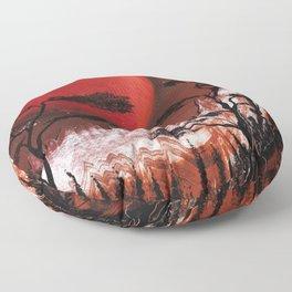 Red Moon Floor Pillow