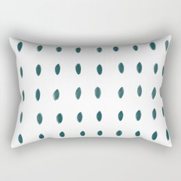 Paint Dabs in Teal Rectangular Pillow