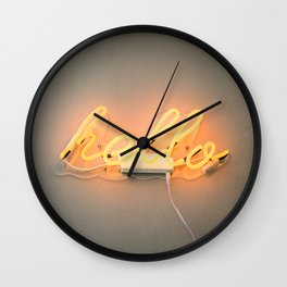 Hello Hello | Words in the wild in Ireland Europe | Colorful film photography Wall Clock
