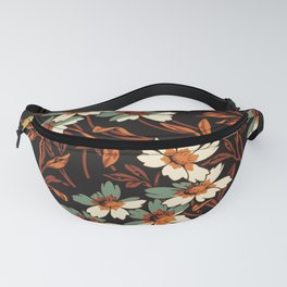 White gothic flowers Fanny Pack