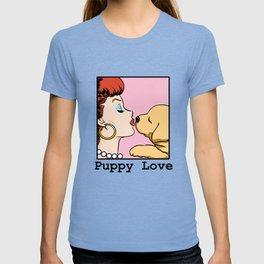 Puppy Love Comic Girl Pop Art T-shirt