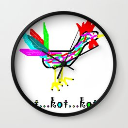 Crazy Cock Wall Clock