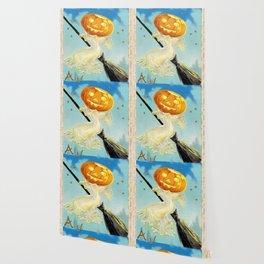 Happy Halloween Pumpkin Witch Wallpaper