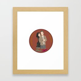 Sean Maguire & Lana Parrilla (The Happy Ending Convention II) Framed Art Print