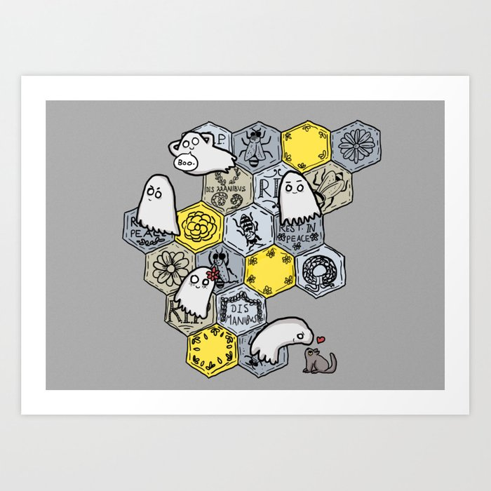 ghost bees69169 prints?wait=0&attempt=0 ghost bees art print by foxesandtea society6