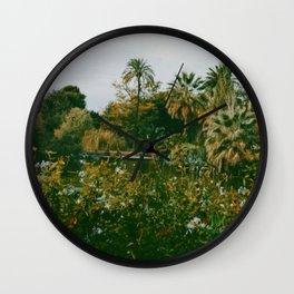 Parc de la Ciutadella- Barcelona Travel Photography Art Print Wall Clock