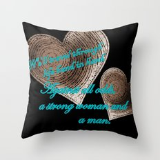 Hand In Hand, A Strong Woman And A Man Throw Pillow