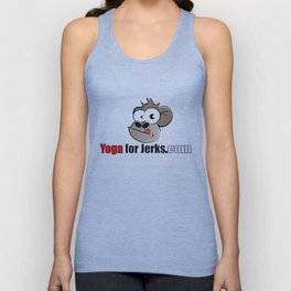 Yoga for Jerks.com Small monkey Unisex Tank Top