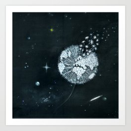 Blowing in Space Art Print