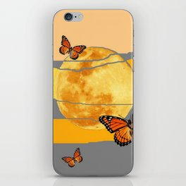 MOON & MONARCH BUTTERFLIES DESERT SKY ABSTRACT ART iPhone Skin