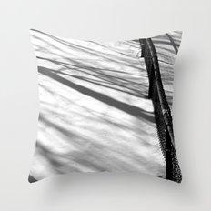 The Black Fence Throw Pillow
