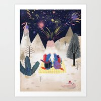 new year Art Prints featuring New Year by callmekim