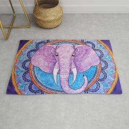 Patience - Elephant mandala Rug