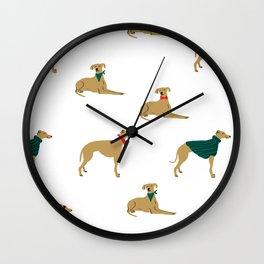 Greyhound love Wall Clock