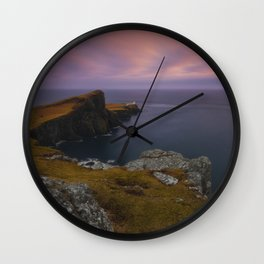 Where The Land Ends Wall Clock
