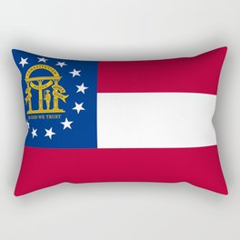 flag of the state of Georgia-Georgian,Gone with the wind,Atlanta,Colombus,Macon,Scarlett o'Hara,Usa Rectangular Pillow