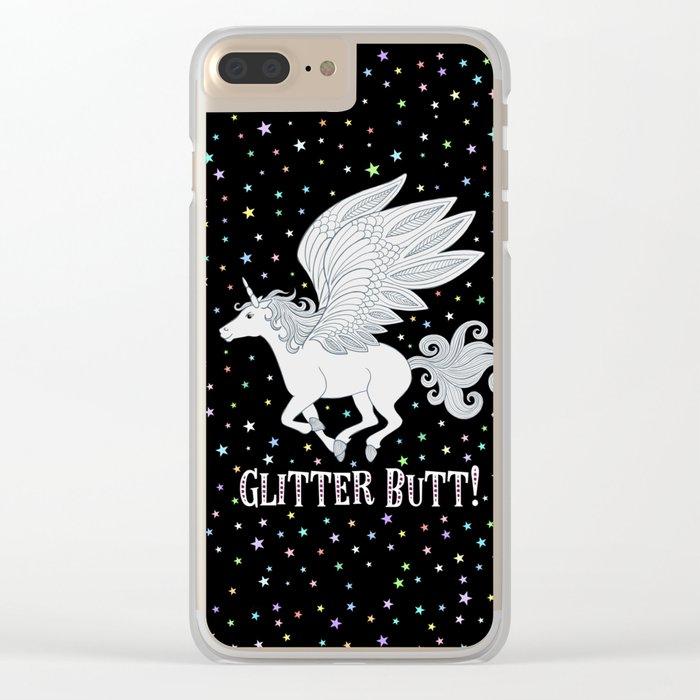 Glitter Butt! Clear iPhone Case