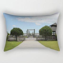 Ferry Dock To Bear Island Rectangular Pillow