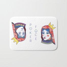 Poker Face Bath Mat