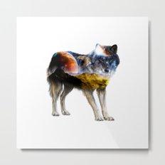 Wolf Landscape Metal Print