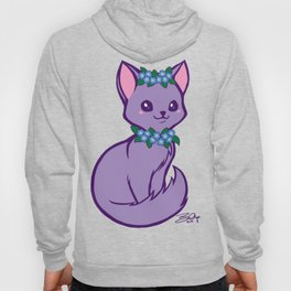 Pritty Kitty Has Forget Me Nots Hoody