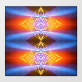 Blue Wave Fire Canvas Print