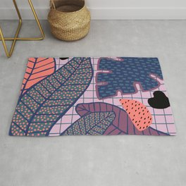 Palm & Monstera Leaves Rug
