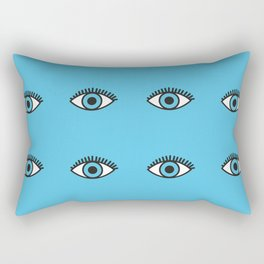 Blue Evil Eyes Rectangular Pillow