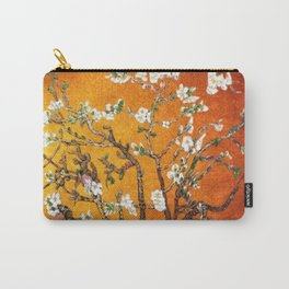 Vincent van Gogh Blossoming Almond Tree (Almond Blossoms) Orange Sky Carry-All Pouch