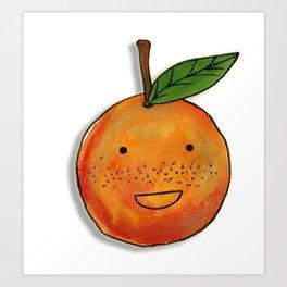 Freckle Cute Orange Art Print