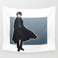 sherlock Wall Tapestries featuring Sherlock by Joan Pons