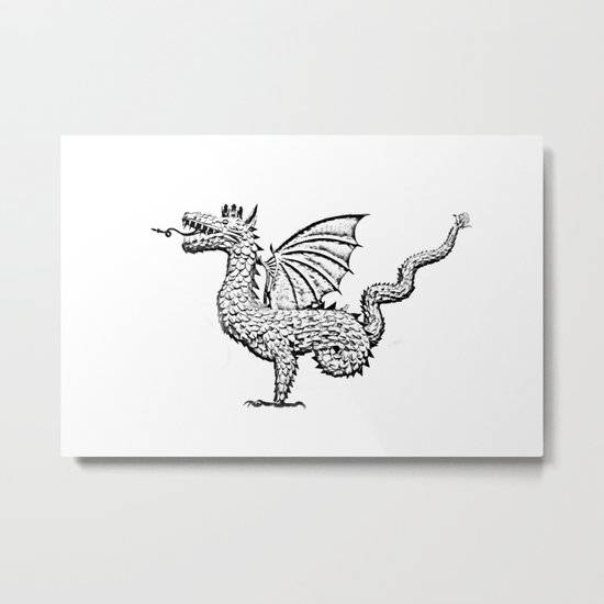 Dragon (pencil) Metal Print