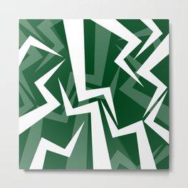 Lightning Series - Green Metal Print
