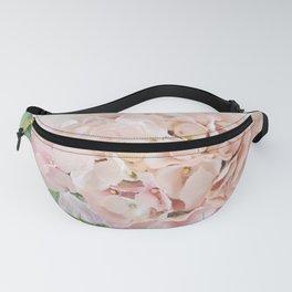 Shabby Chic Pastel Pink Hydrangeas Parisian Fleurs Romantic Cottage Floral Print Home Decor Gift Decor Fanny Pack