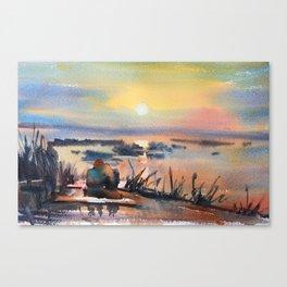 Honey Coloured Sunrise Canvas Print