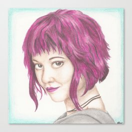 Pink Haired Ramona  Canvas Print