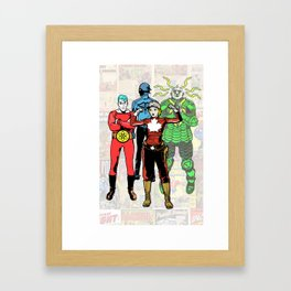 JOIN FORCES Framed Art Print