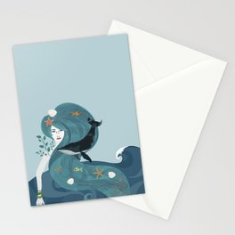 Aquatic Life of a Seaflower Stationery Cards