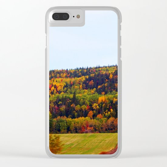 Fall Harvest and the Hills Clear iPhone Case