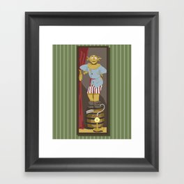Stretching Scarecrow Framed Art Print