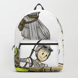 Bb8 and Rey Crossover Calvin and Hobbes Backpack