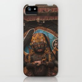 Temples and Architecture of Kathmandu City, Nepal 001 iPhone Case