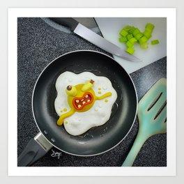 The murder of the fried egg Art Print