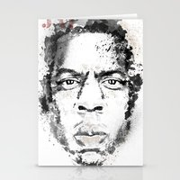 jay z Stationery Cards featuring Jay Z by I AM DIMITRI