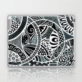 White tangled circles Laptop & iPad Skin